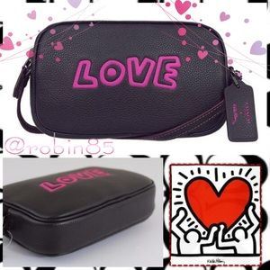 Coach Bags - Coach • Keith Haring LOVE Crossbody Leather Pouch